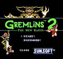 Ecran du Jeu Gremlins 2, NES, 1990