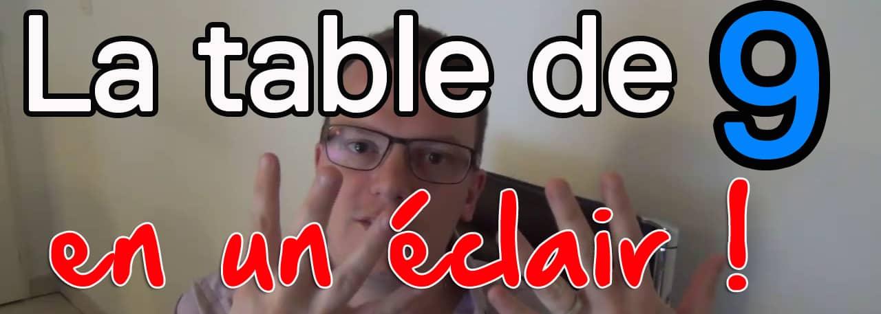 table de 9